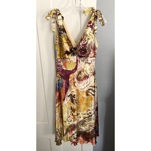 ✨HP✨ Silk watercolor A-line party dress
